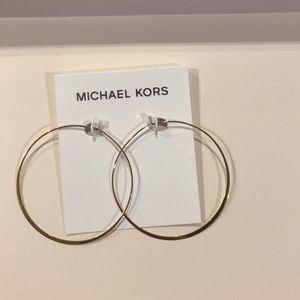 Michael Kors gold hoop earrings NWT